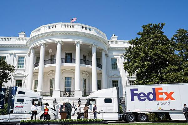FedEx Ground Truck at White House