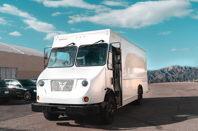 Xos White Delivery Truck